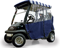 Navy Sunbrella Golf Car Enclosure