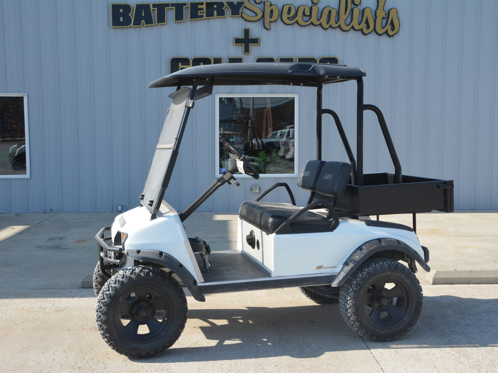 2008 Club Car DS Custom Electric Golf CartCLASSIC WHITE Lifted Suspension for sale $5995