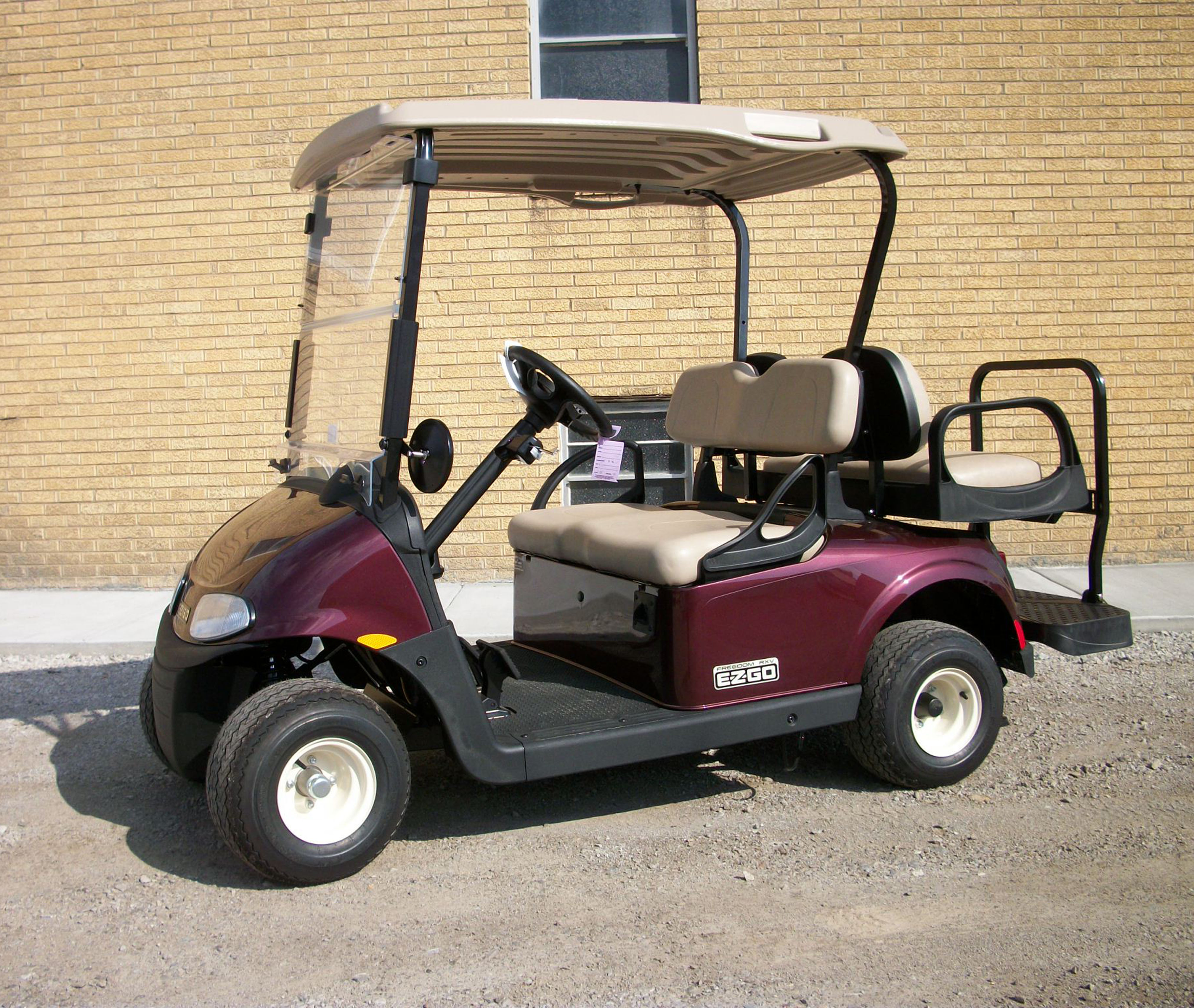 2018 Black Cherry EZGO Electric Golf Cart $7695