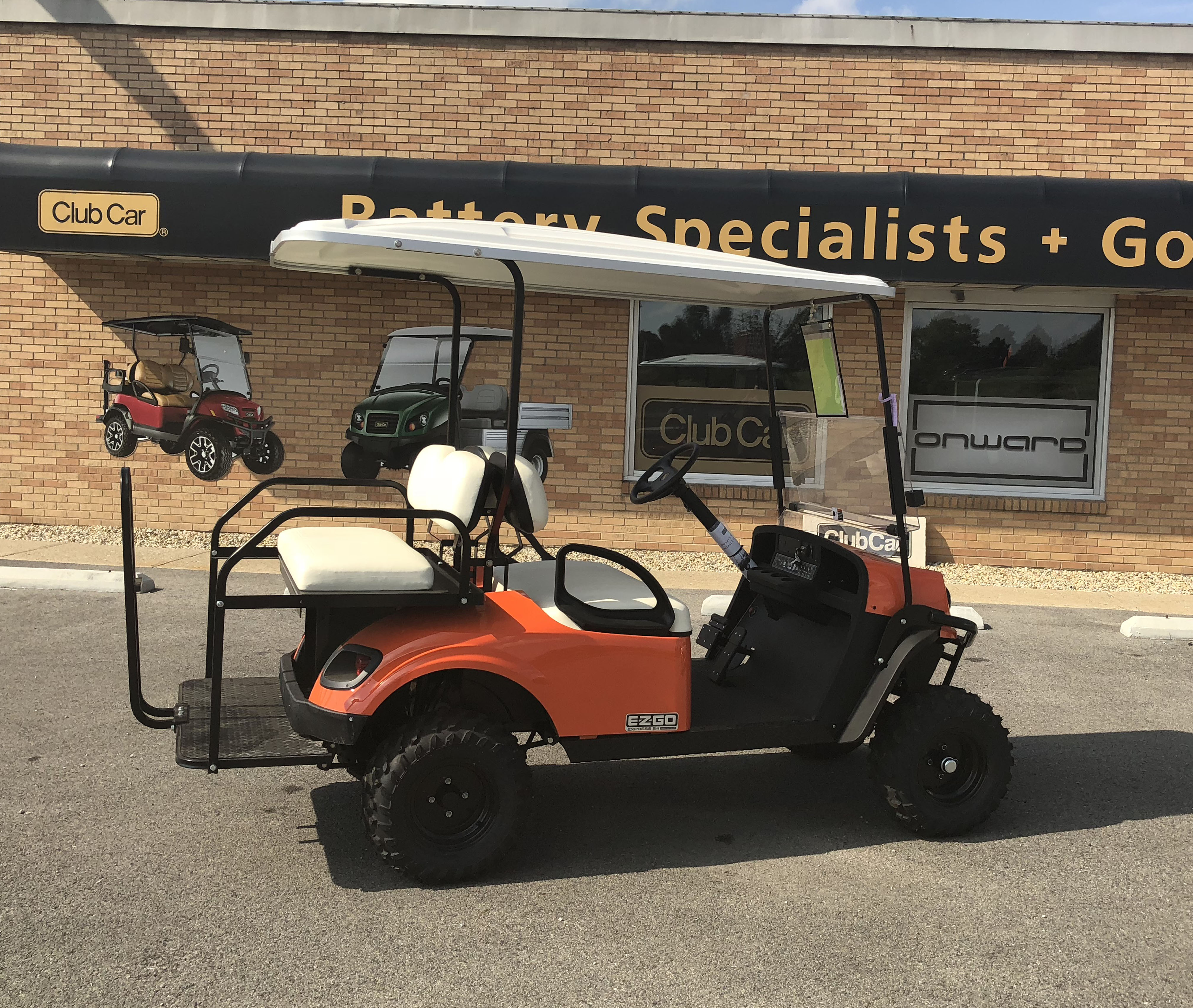 2018 Orange EZGO Electric Golf Cart $9262