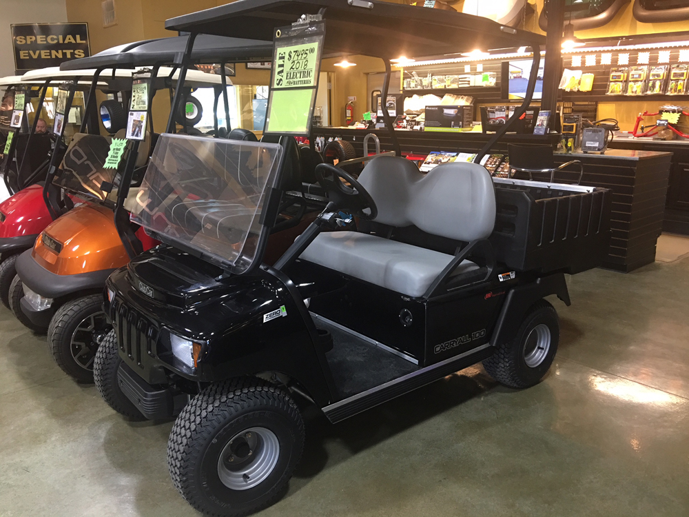 2018 Black Club Car Carryall 100  Electric Golf Car $7495