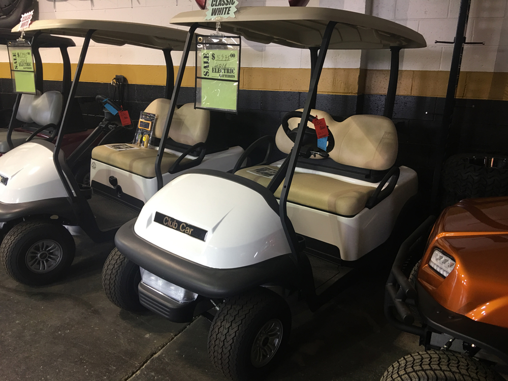 2018 White Club Car Precedent  Electric Golf Car $5995