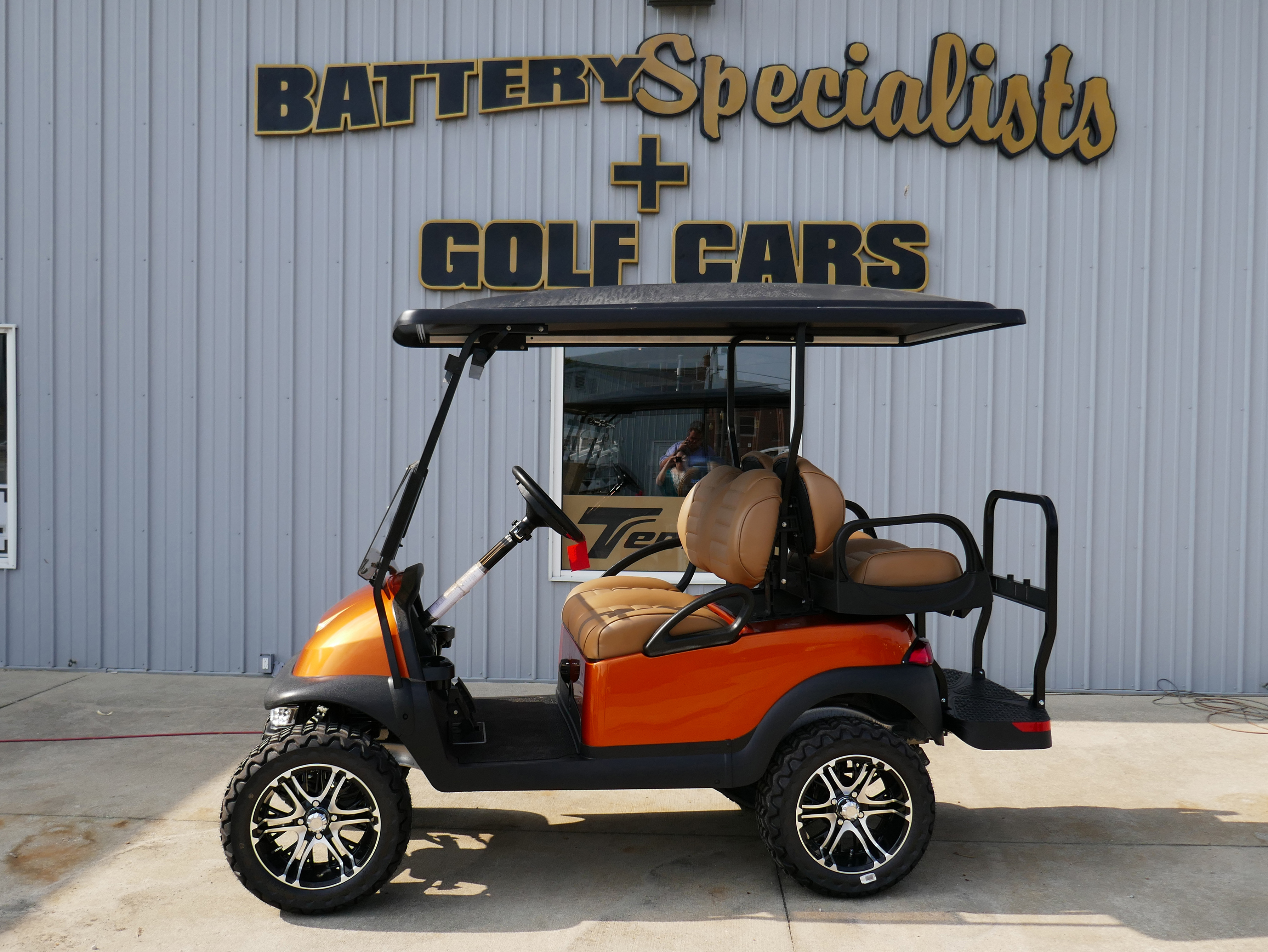 2014 METALLIC ORANGE Club Car Precedent Electric Golf Car TBD
