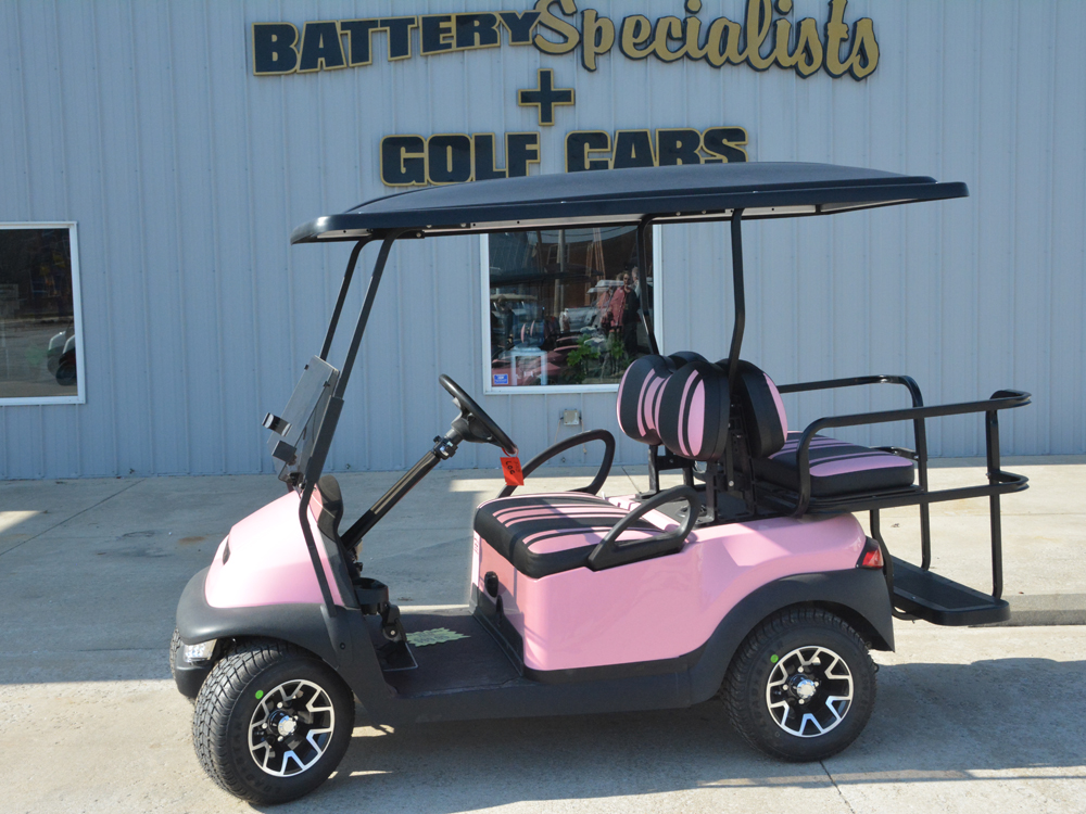 Pink Electric Golf Cart 2010 Club Car Precedent for sale $5995