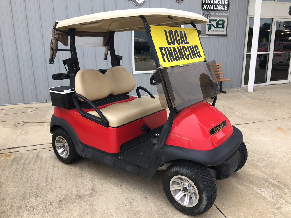Red Golf Cart 2013 Club Car Precedent for sale $4495