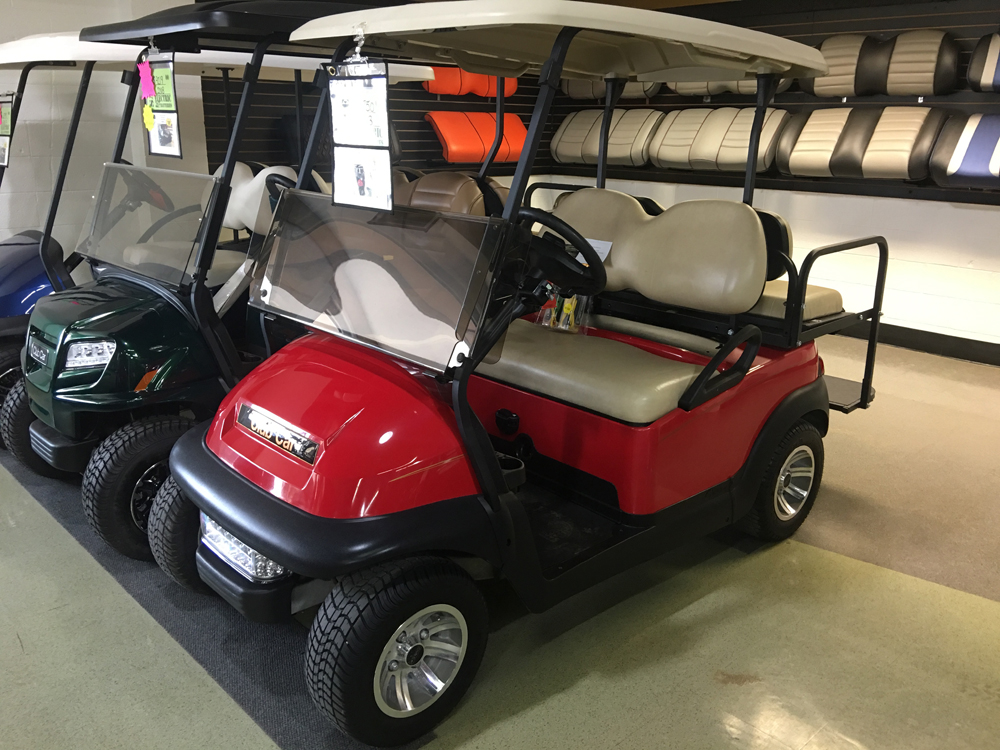 Classic Red Electric Golf Cart 2013 Club Car Precedent for sale $4750