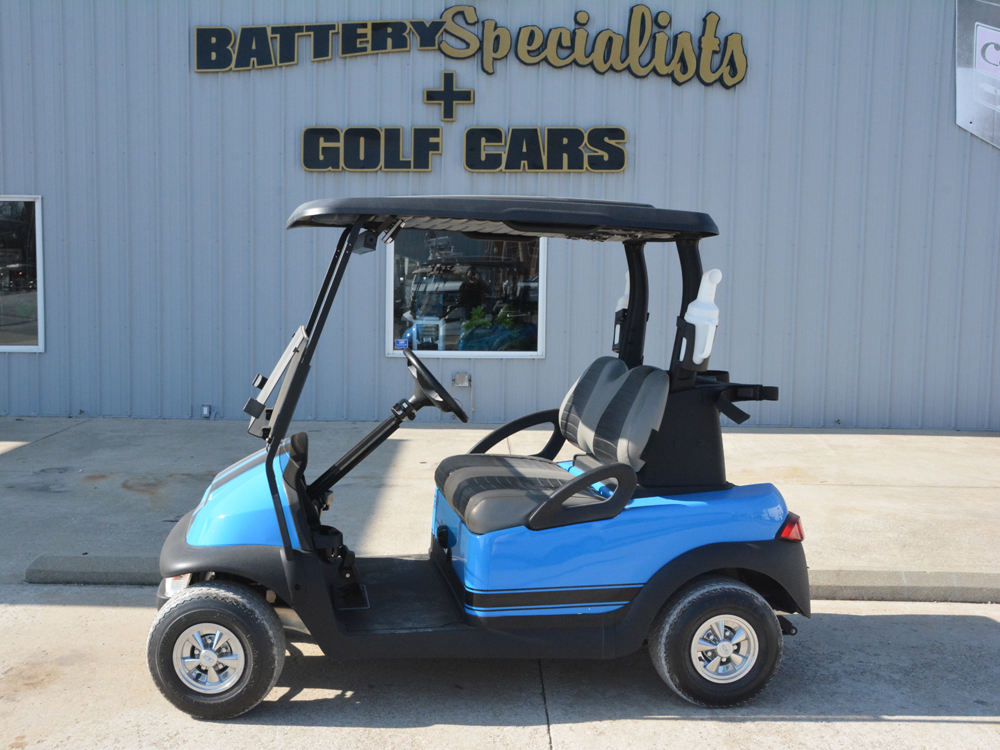 2012 Club Car Precedent ELECTRIC Golf Cart Grabber Blue with Black Stripes $5495