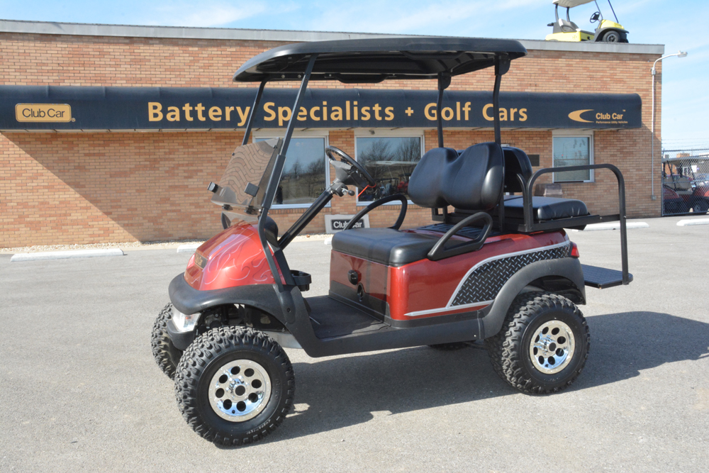 2008 Tobago Spice with Diamond Plate Club Car Precedent Electric Golf Cart $5750