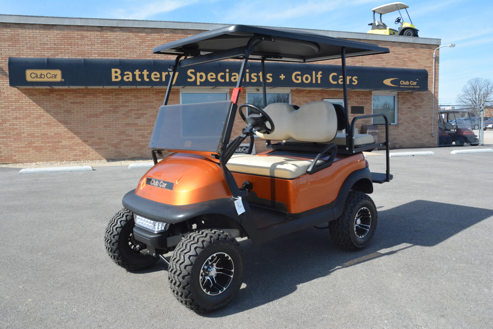 2015 ATOMIC ORANGE Club Car Precedent Gas Golf Car $7495