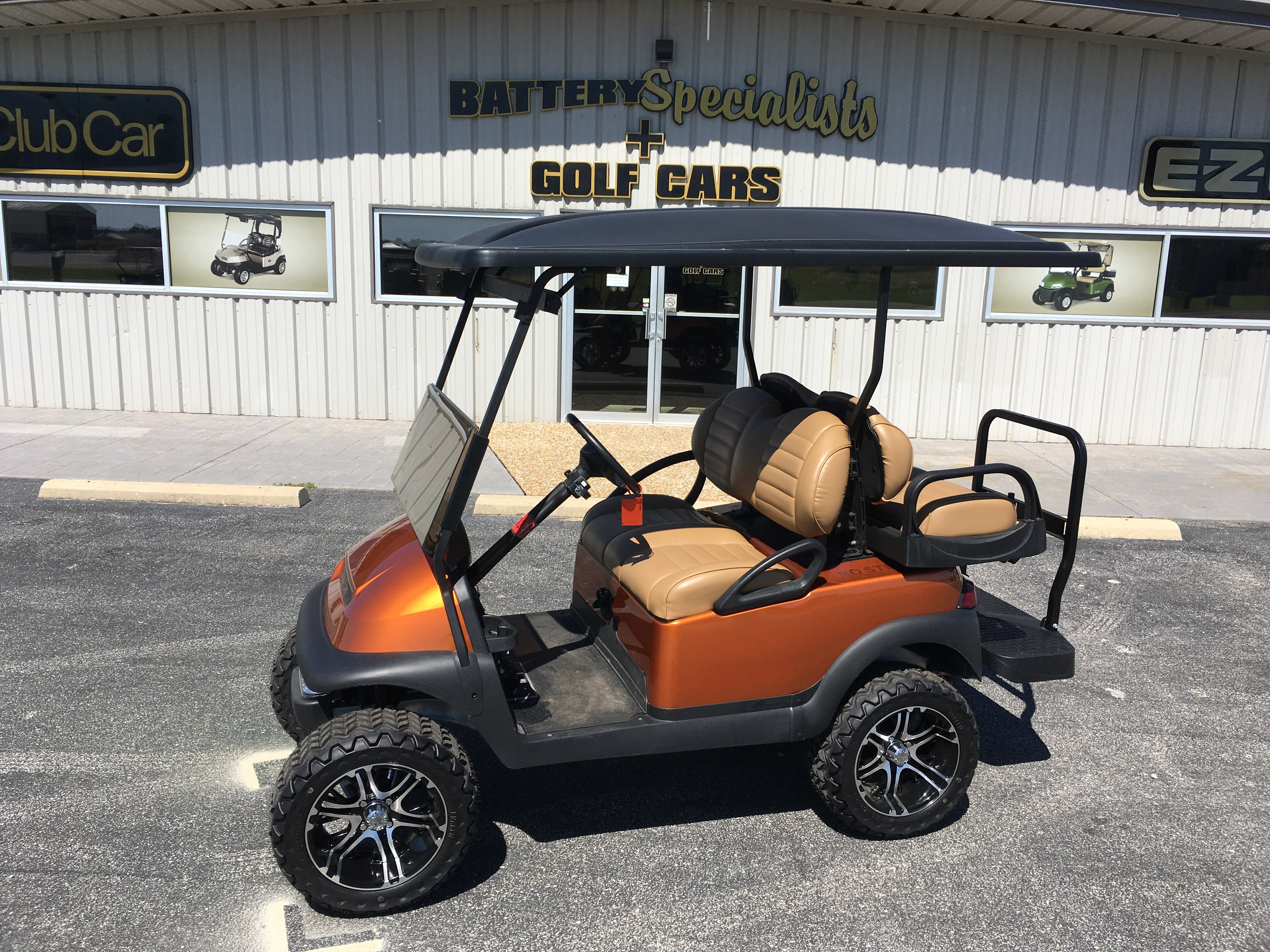 2015 Atomic Orange Club Car Precedent Gas Golf Car $7995