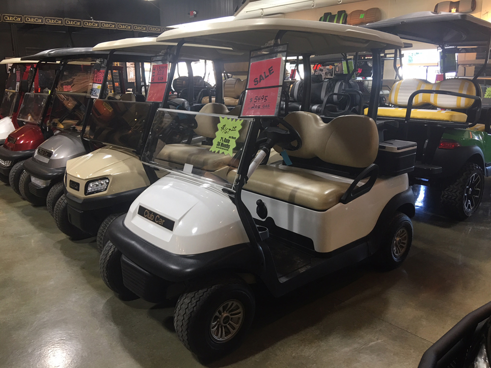 2016 Classic White Club Car Precedent Gas Golf Car $5495