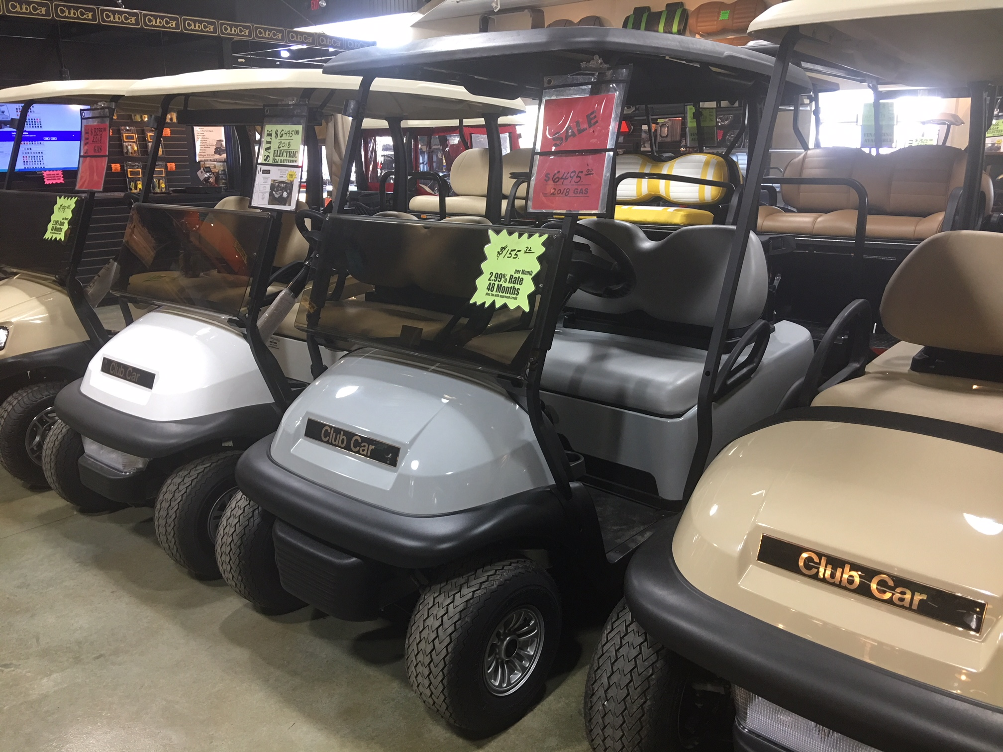 2018 Grey Club Car Precedent Gas Golf Car $6495