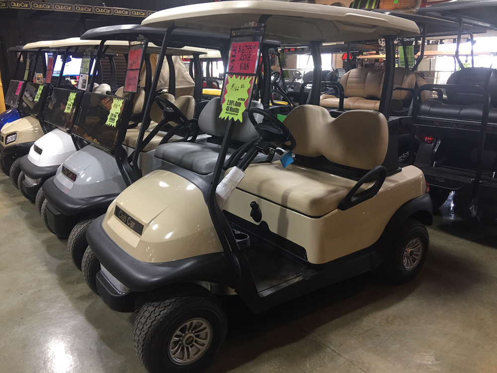 2018 Beige Club Car Precedent Gas Golf Car $6795