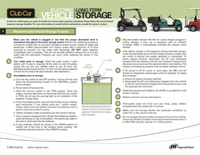 Reccommended Vehicle Storage